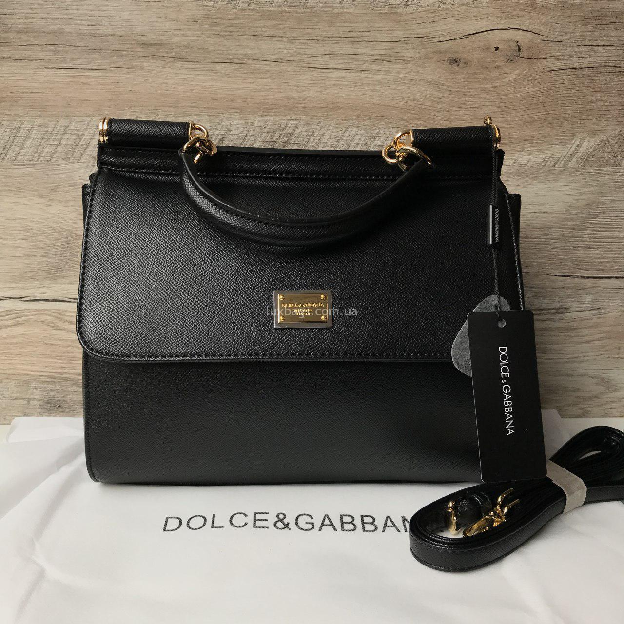 01a2b772ed22 Загружен дляЖенская сумка Dolce & Gabbana Miss Sicily mini D&G черная