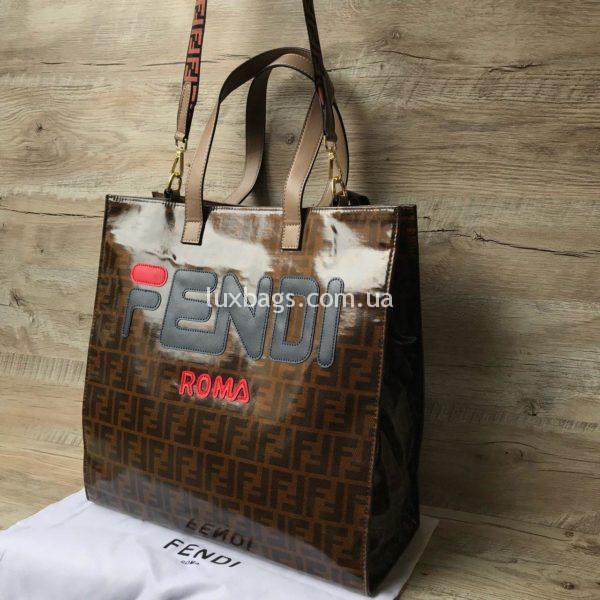 Женская сумка шоппер Fendi Фенди 1