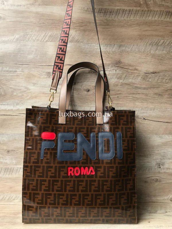 Женская сумка шоппер Fendi Фенди
