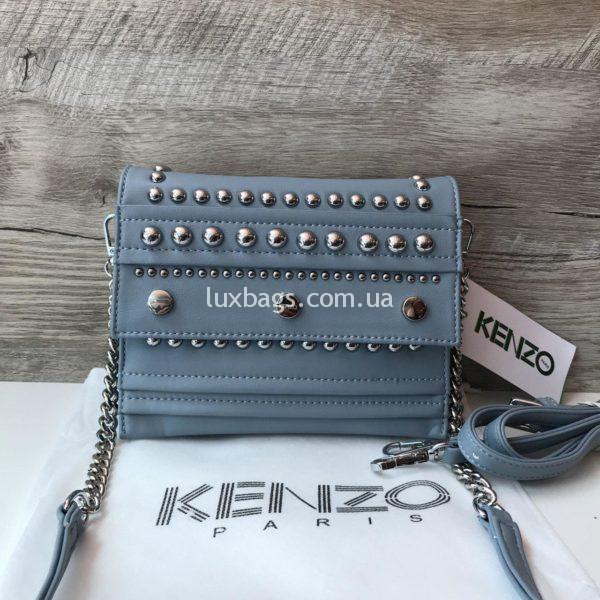 Женская сумочка Kenzo голубая