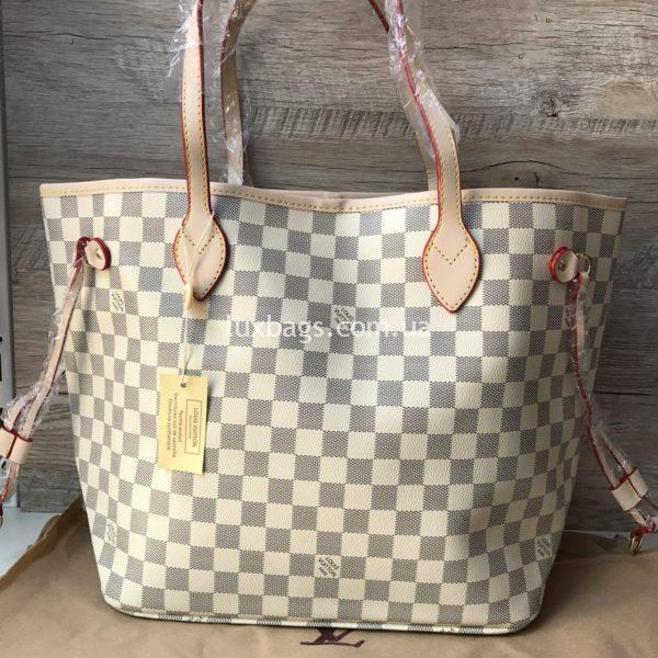 Женская сумка Louis Vuitton neverfull белая