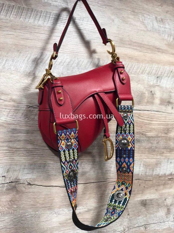 Женская стильная сумка Dior Диор красная