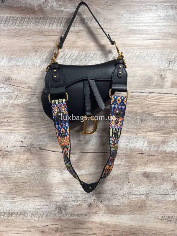 Женская стильная сумка Dior Диор фото черная