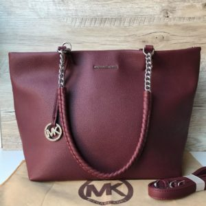 Женская модная сумка Michael Kors цвета марсала фото