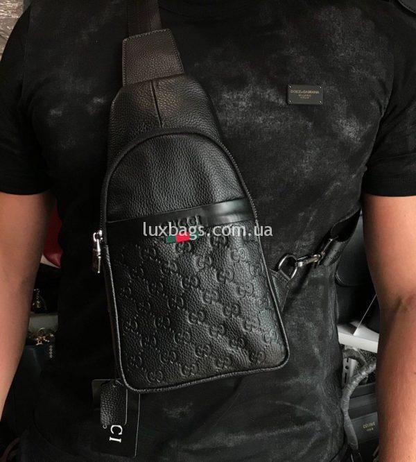 Мужская сумка бананка слинг Gucci Гуччи