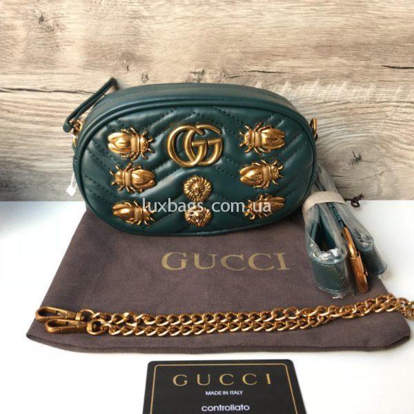поясная сумка Гуччи GUCCI зеленая