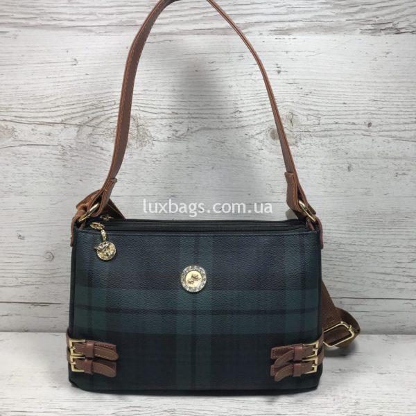 Женская сумка в спортивном стиле зеленая