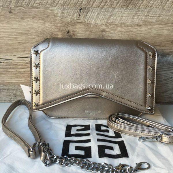 Женская модная сумка Givenchy серебряного цвета
