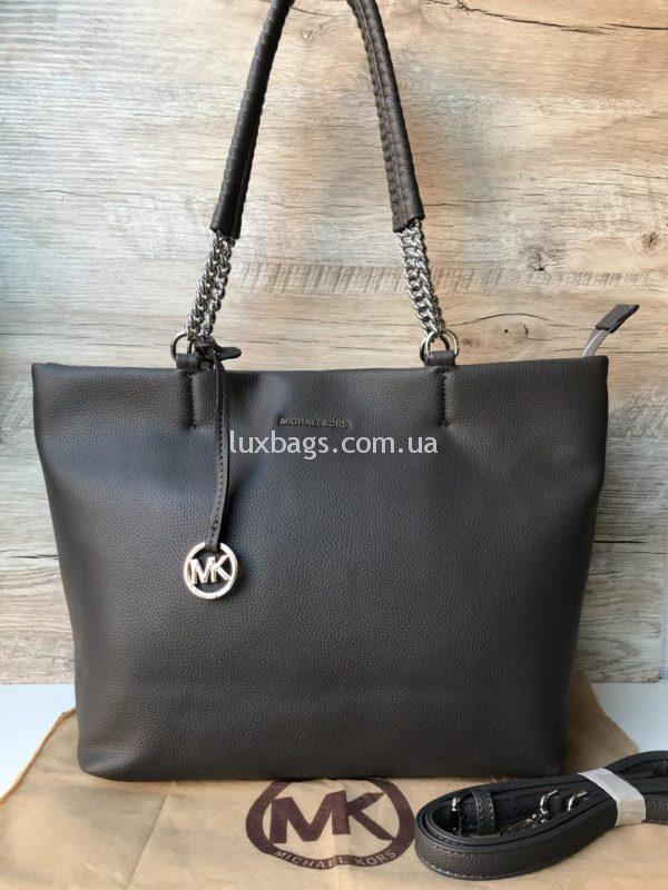 Женская модная сумка Michael Kors серая