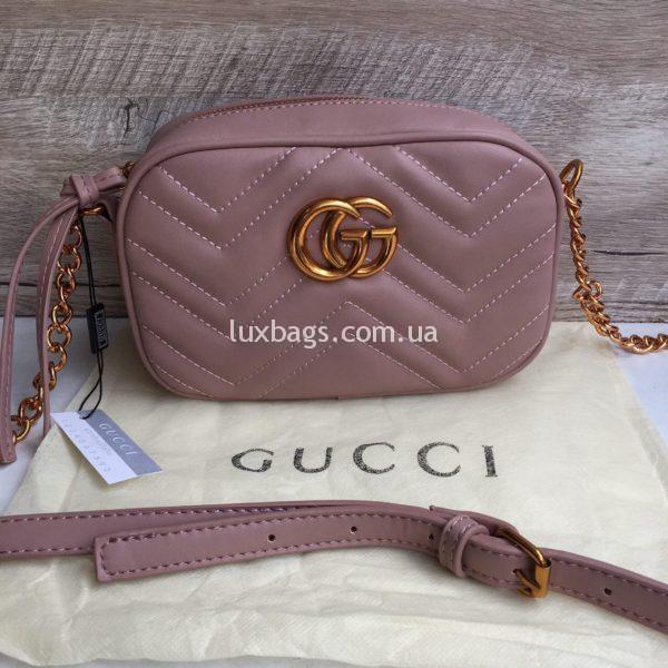 сумка Gucci Гуччи Marmont розовая недорого