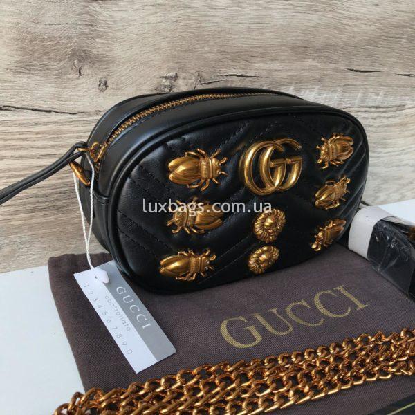 Женская поясная сумка Гуччи GUCCI черная
