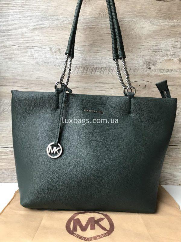 Женская модная сумка Michael Kors зеленого цвета