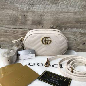 поясная Gucci Marmont Гуччи белая недорого