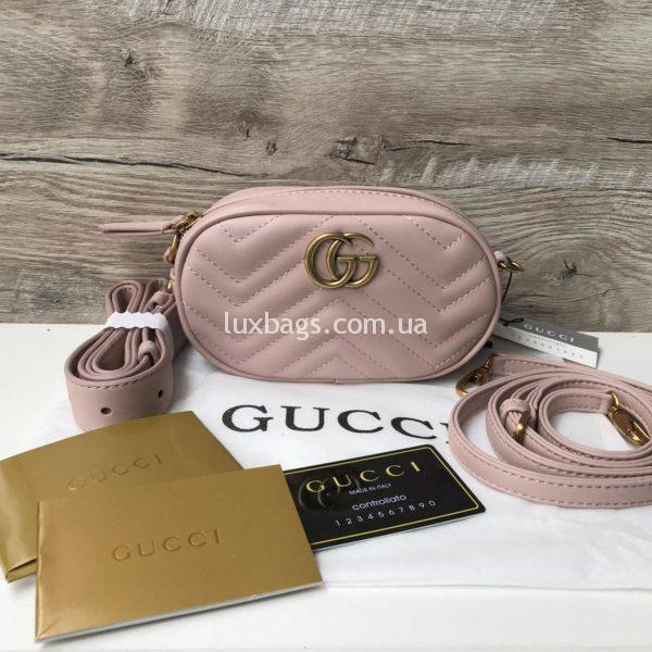 поясная Gucci Marmont Гуччи розовая