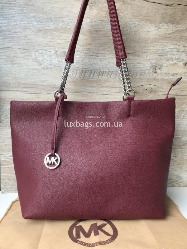 Женская модная сумка Michael Kors на двух ручках марсала