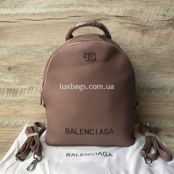 Женский стильный рюкзак Balenciaga розового цвета