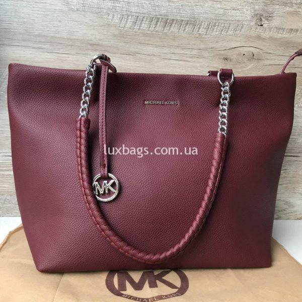 Женская модная сумка Michael Kors цвета марсала