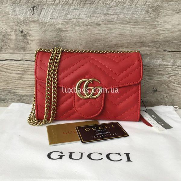 сумка-клатч Gucci Гуччи красная
