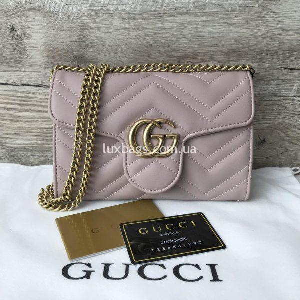 сумка-клатч Gucci Гуччи розовая