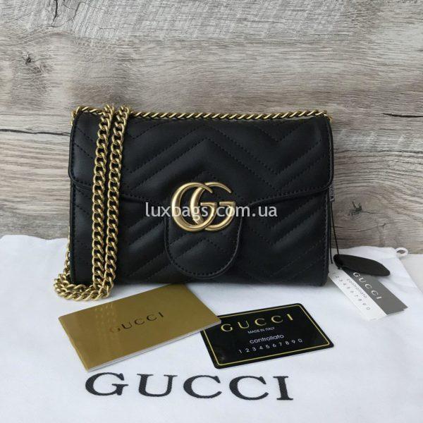 Женская сумка-клатч Gucci Гуччи черная