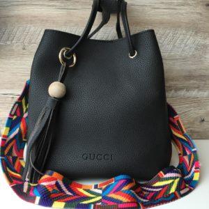Сумка мешочек Gucci Гуччи черная