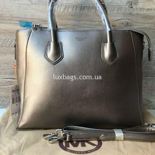 Большая женская сумочка Michael Kors бронзовая
