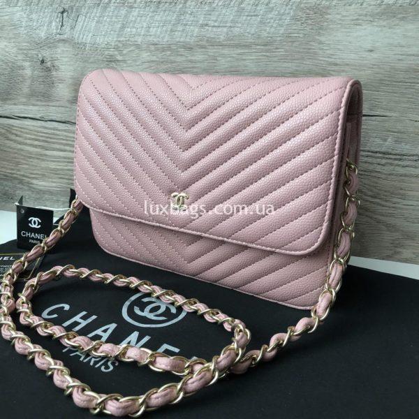 Женская сумочка-клатч Chanel розового цвета
