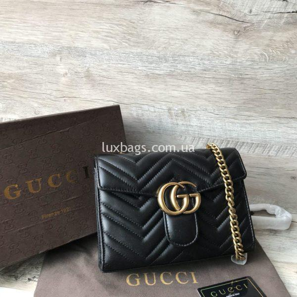 Женская кожаная сумка клатч Gucci недорогая