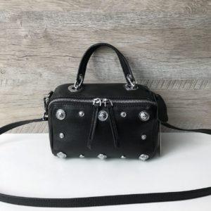 Женская стильная маленькая кожаная сумка фото