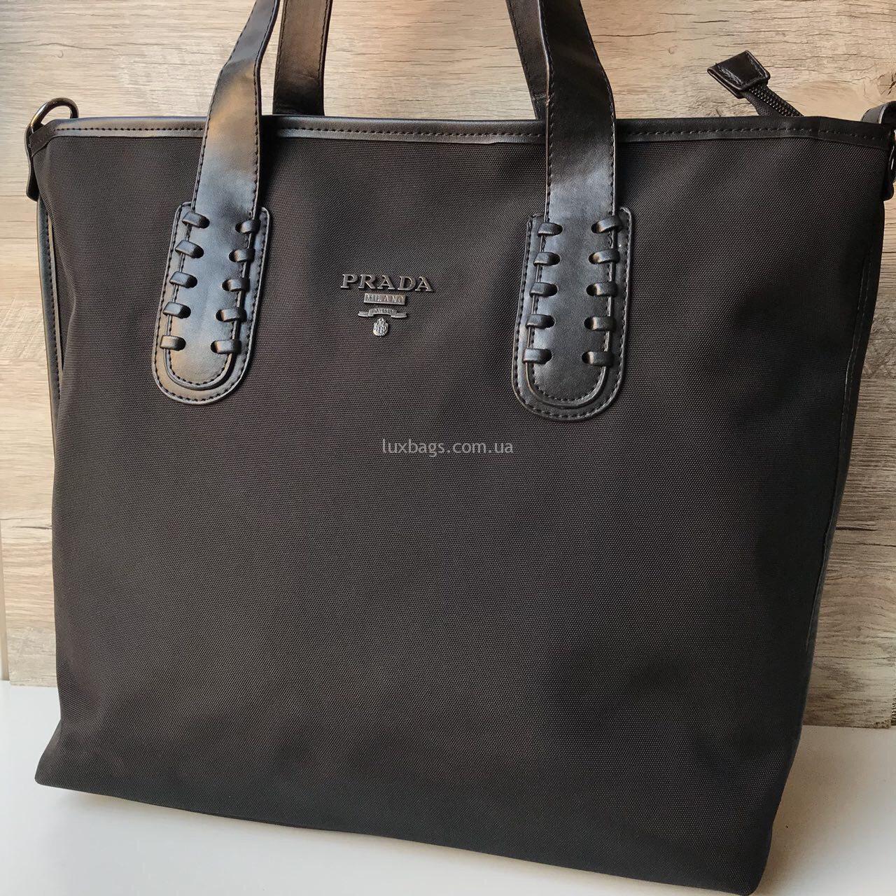 Купить Женская Сумка Прада Prada плащевка   lux-bags dd95a9ef8f6