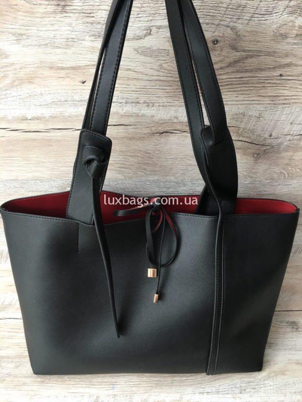 Женская большая сумка на плечо фото