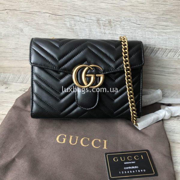 Женская кожаная сумка клатч Gucci фото