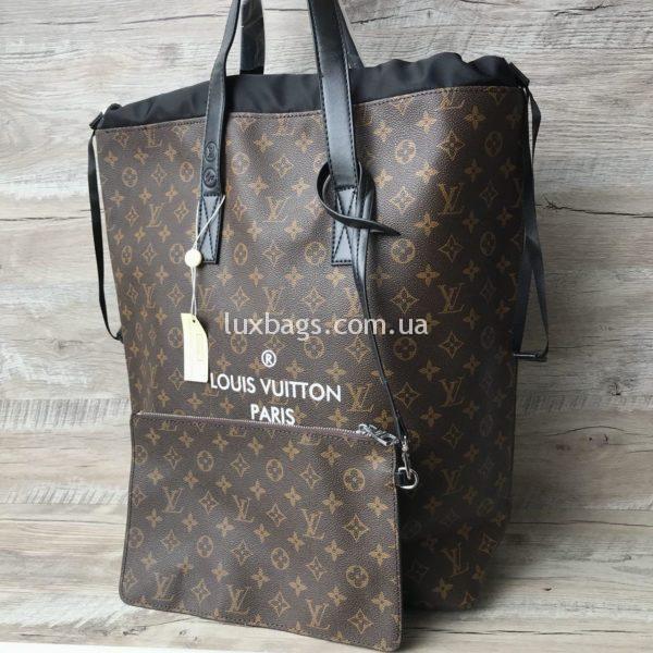 Женская большая сумка Louis Vuitton из фирменной канвы