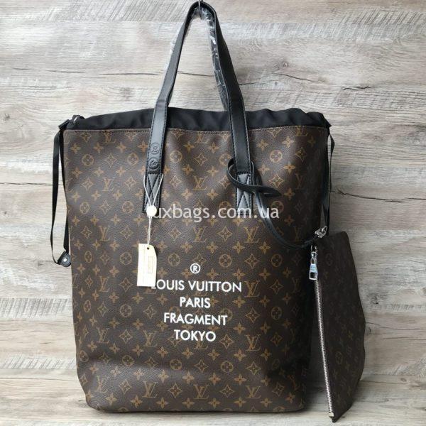 Женская большая сумка Louis Vuitton коричневая