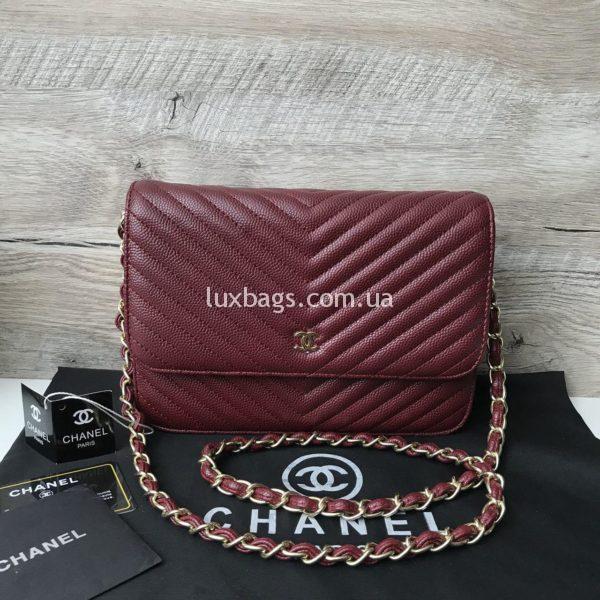 сумочка-клатч от шанель женская цвета марсала