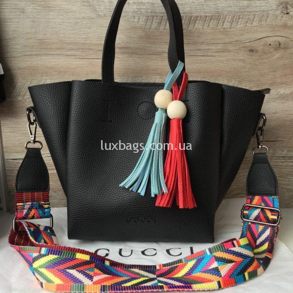 Женская сумка GUCCI большая черная