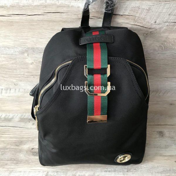 Женский черный рюкзак Gucci реплика