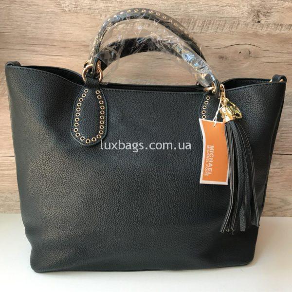 Женская сумка Michael Kors на коротких ручках черная фото