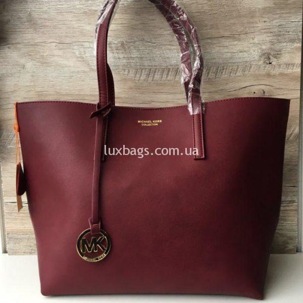 Женская сумка Шоппер Michael Kors цвета марсала