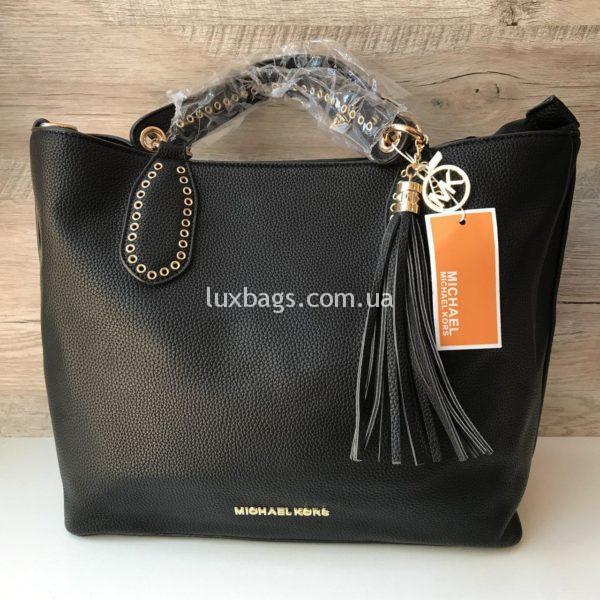 Женская сумка Michael Kors на коротких ручках черная
