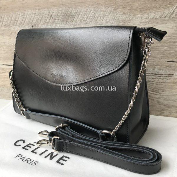 Кожаная сумка Celine черная недорого купить