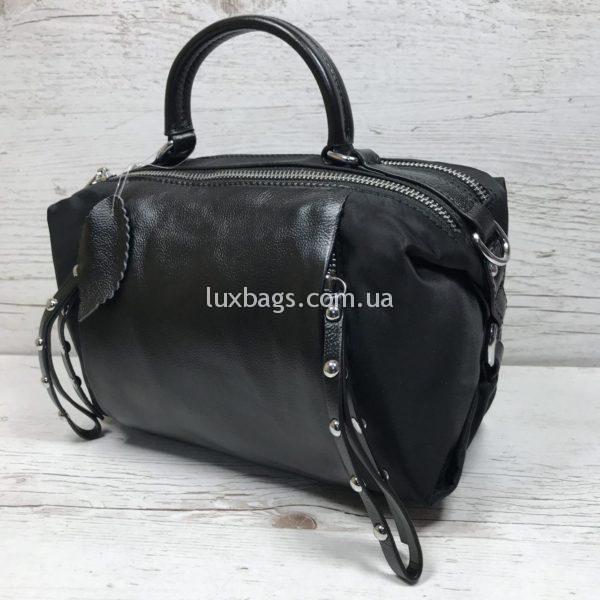 сумка саквояж из натуральной кожи