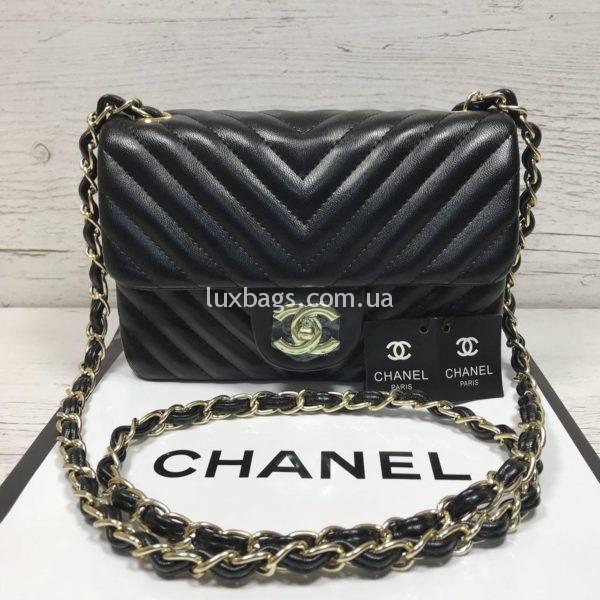Женская сумка от Chanel Шанель черная кроссбоди