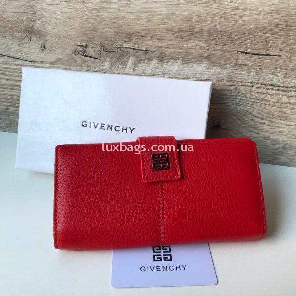 КОЖАНЫЙ КОШЕЛЁК Givenchy красный недорого