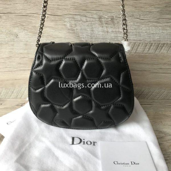 Женская кожаная маленькая сумочка Dior вид 3