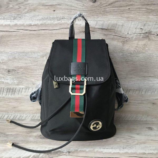 рюкзак гуччи черный стильный