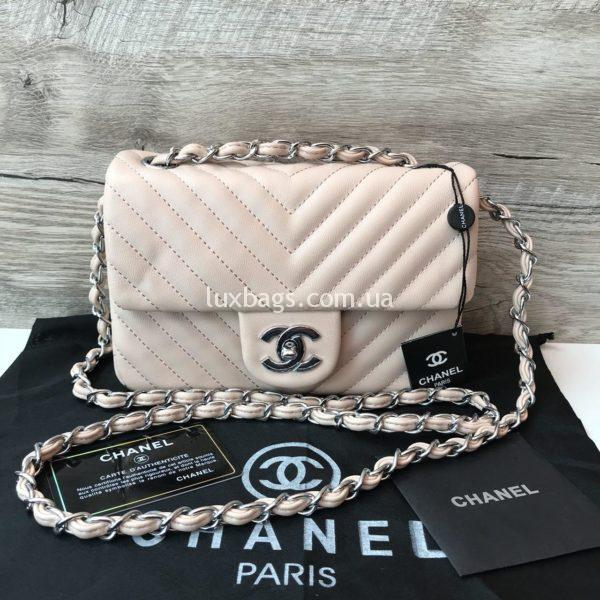 Женская сумка от Chanel Шанель бежевая