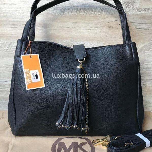 черная сумка майкл корс средних размеров женская