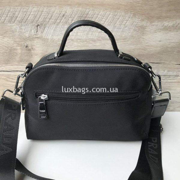 Женская черная сумка-саквояж Prada прада фото 1
