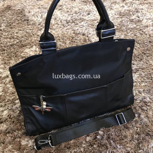 Женская большая спортивная сумка черная фото